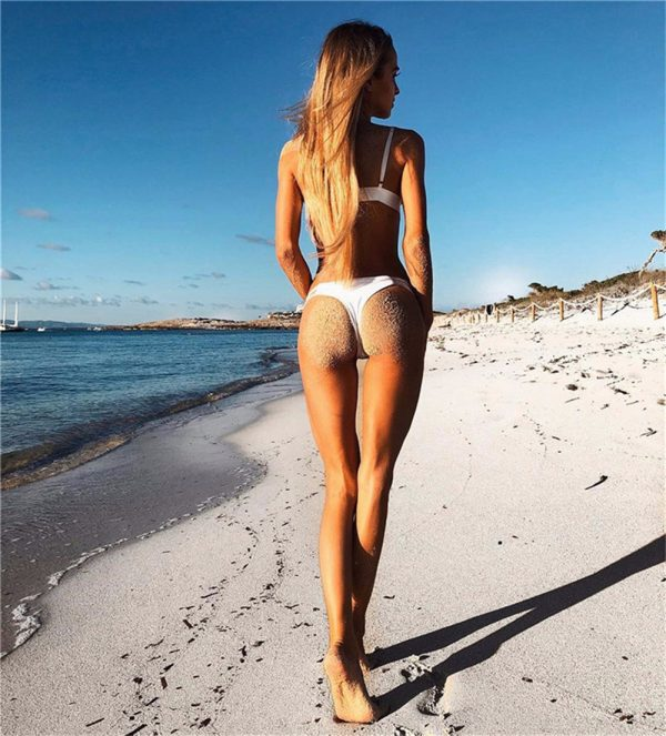 White Bandage Bikini Back