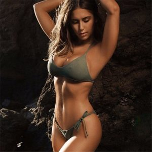Olive Push Up Bikini Side