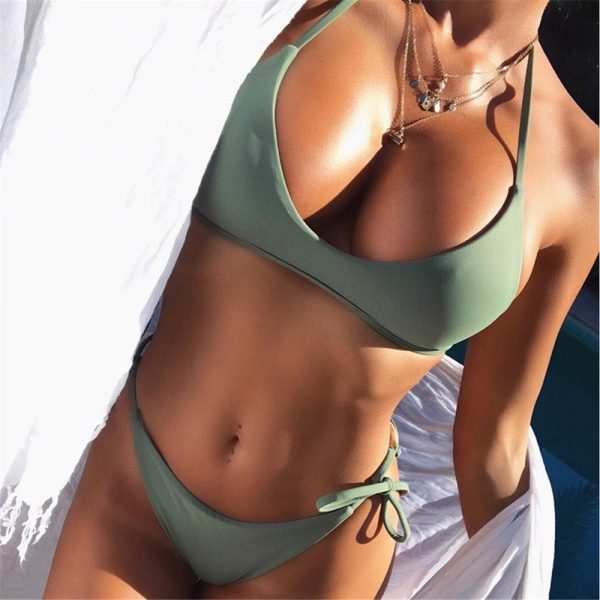 Olive Push Up Bikini