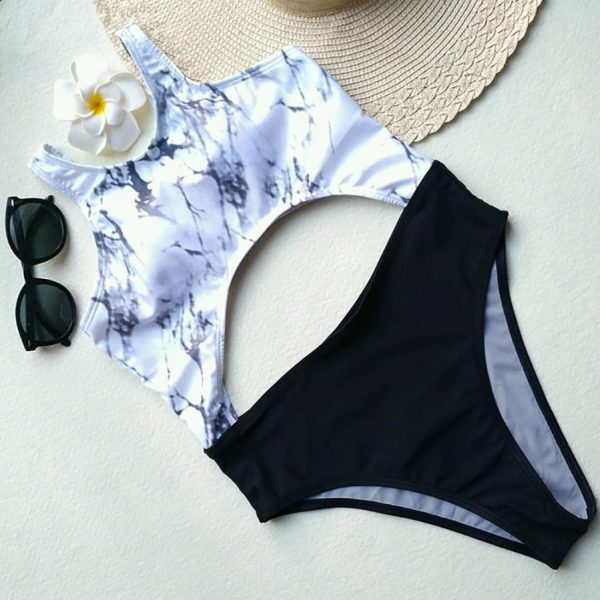 Marble Print One Piece