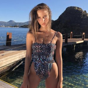 Floral Bandage One Piece