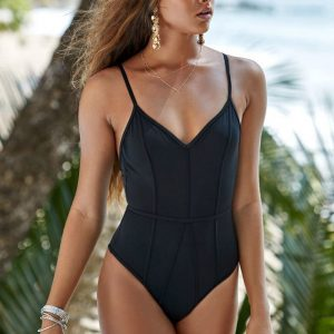 Black Printed One Piece