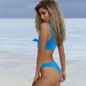 Blue Brazilian Bandage Bikini