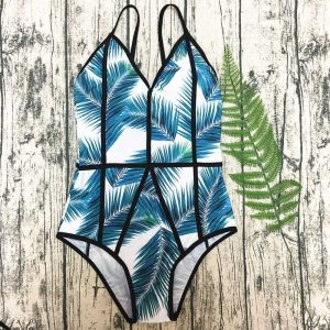 Green Printed One Piece