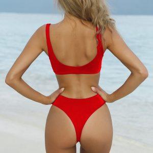 Red Brazilian Bandage Bikini Back