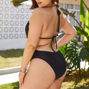 Plus Size Hollow Out One Piece