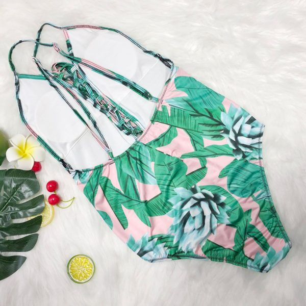 Plus Size Floral Print Swimsuit